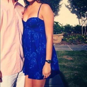 Rebecca Taylor Bustier Blue Dress